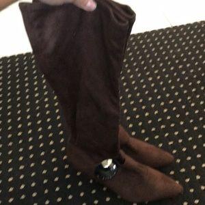 Bcbg brown suede boots